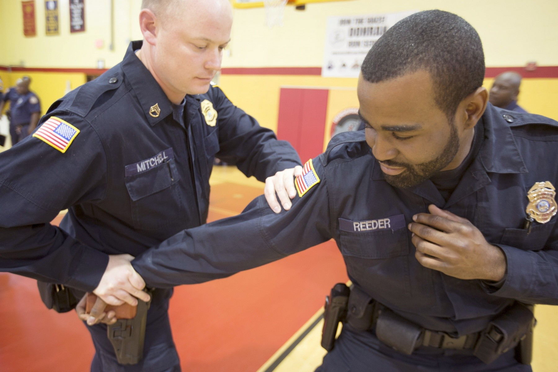 Joint base law enforcement undergo tough training to