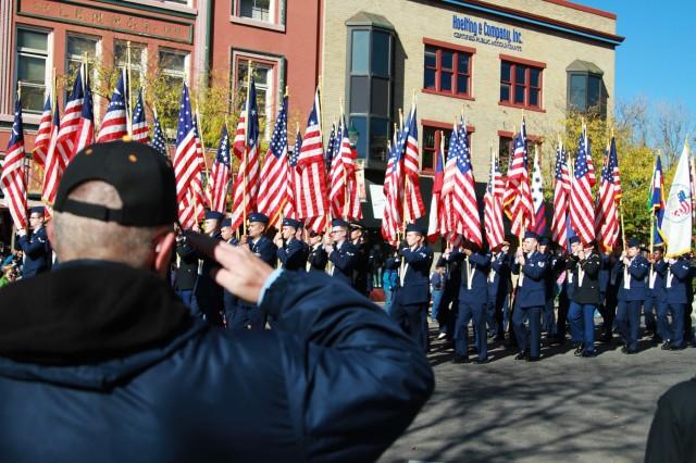 Parade honors military