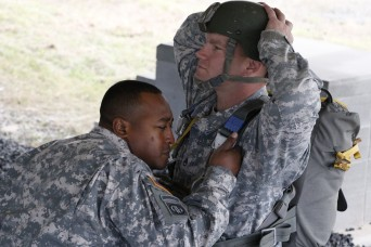 Soldiers from the Joint Readiness Training Center, Operations Group conducted jumpmaster refresher training Nov.13. The training focused on the basics many jumpmasters can trade for bad habits or a unit's techniques.