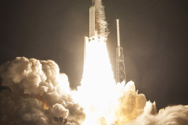 The Mobile User Objective System - 4 satellite, which was launched from the Atlas V rocket, Sept. 2, traveled 10 miles per second toward its final destination.