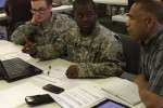 Soldiers take part in a user jury for the Army's Joint Enterprise Network Manager, a software application that manages lower tactical radio networks, to provide feedback to support continual Joint Enterprise Network Manager enhancements.