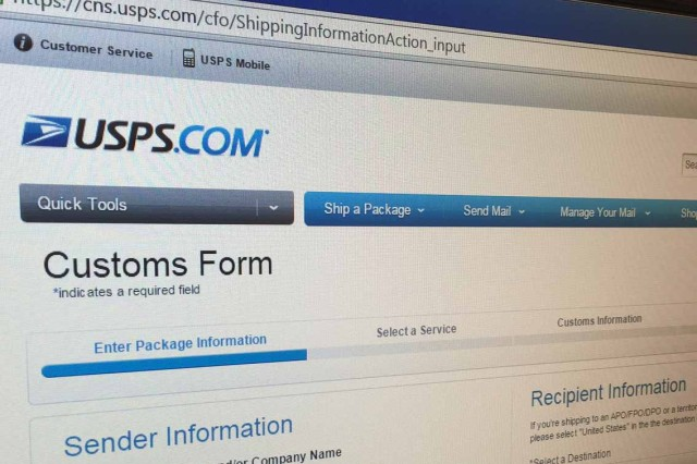 New online customs form coming to USAG Italy Post Office