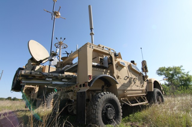 A Prophet Enhanced system mounted on a MRAP-All Terrain Vehicle is used by 504th Military Intelligence Brigade Soldiers to carry out their missions. Soldiers manning the Prophet system can search for, monitor and analyze enemy radio communications from the comfort of their truck.