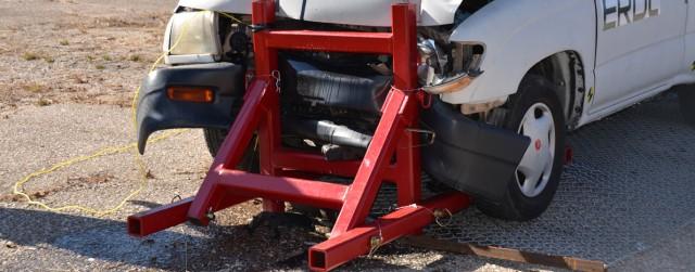 Fort Leonard Wood Soldiers assess vehicle denial barrier