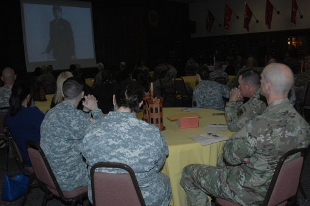 Community members attend the Maneuver Support Center of Excellence and Fort Leonard Wood National American Indian Heritage Month Celebration, Nov. 12 at the John B. Mahaffey Museum Complex Engineer Regimental Room.
