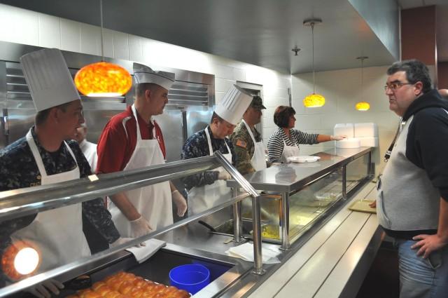 Crane Leadership Serve Workforce Thanksgiving Meal