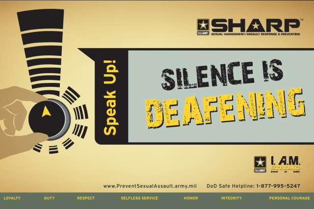 Banner from the U.S. Army Sexual Harassment / Assault Response and Prevention program. (Graphic courtesy of U.S. Army SHARP)