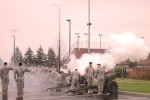 On Nov. 13, 2015, the thunderous sound of gunfire echoed throughout the whole installation as the salute battery element of Alpha Company, 1-37 Field Artillery Battalion, conducted their 27-gun salute in support of Korean War Veterans Salute to honor the lives of sacrificed Soldiers with respect and affection.