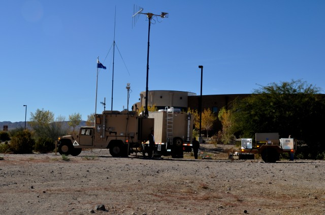 Army Threat Systems Management Office demonstrates electronic warfare jammer technology