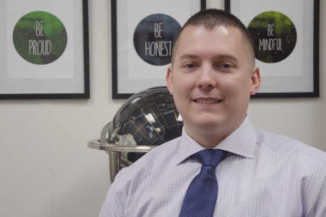 Ryan Hank is a logistics management specialist for the U.S. Army Security Assistance Command in New Cumberland, Pa.