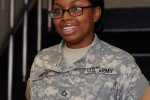 Pfc. Karibbein Smith, C Company 304th Expeditionary Signal Battalion, wanted to raise her General Technical test score and persevered until she'd done just that.