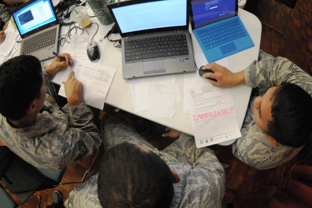Members of a cyber protection unit with the Hawaii Air National Guard conduct cyber defense operations during a training in June. As cyber warfare takes on an ever increasing role, the Guard announced plans to activate additional cyber protection units spread throughout 23 states by the end of fiscal year 2019.