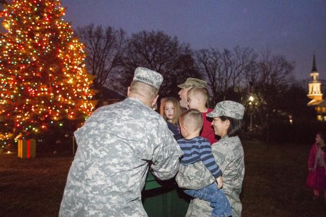 Holiday Tree, Santa Signal Start Of Holiday Season On