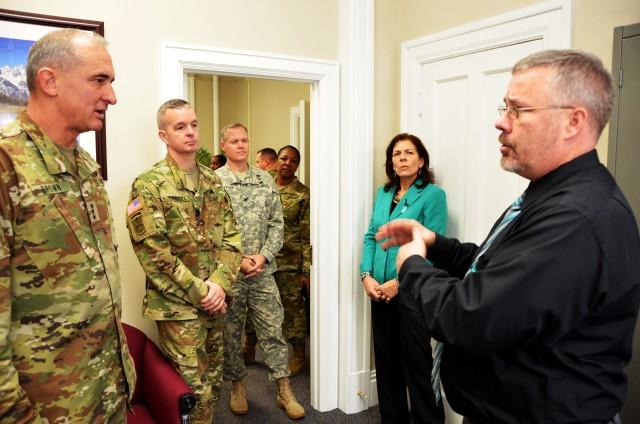 Patrick Manning gives lt. Gen. Robert Brown Tour of SHARP Resource Center