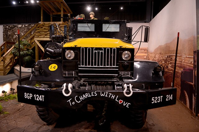 "The ""Eve of Destruction"" is on display at the U.S. Army Transportation Museum on Fort Eustis, Va. The Vietnam gun truck is the only one of its kind to return from the war, and was used as a model for convoy vehicles in the Iraq and Afgahnistan wars."