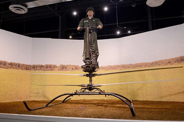 The U.S. Army Transportation Museum's De Lackner Aerocycle is one of the more unusual experimental craft on display. Created for individual mobility on the battlefield, the aerocycle could be steered by the pilot shifting his weight. The technology was eventually abandoned in favor of the helicopter.