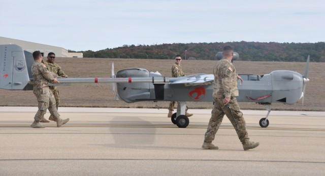 Soldiers bid farewell to Army's oldest unmanned aircraft