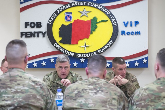 CSA and SMA host townhall with Soldies in Afghanistan