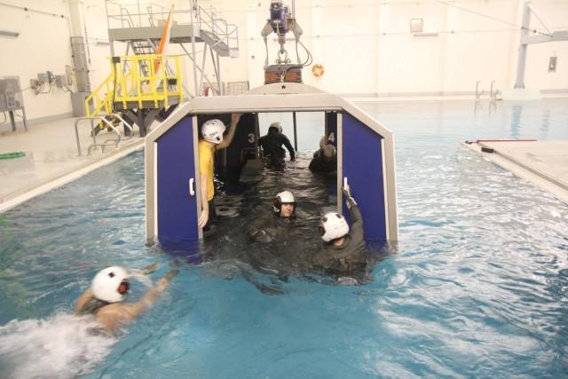 16th CAB pilot water survival training