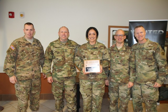 Headquarters Support Company, 7th Infantry Division was honored for accomplishing its retention goals for Fiscal Year 2015 during an awards ceremony, Dec. 17.