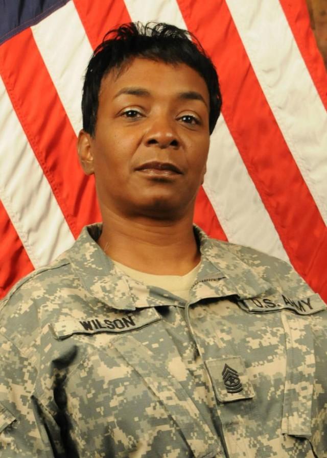 Pamela A. Wilson, U.S. Army Installation Management Command Chaplain Sgt. Maj.