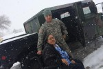 New Mexico National Guard transports citizens during blizzard
