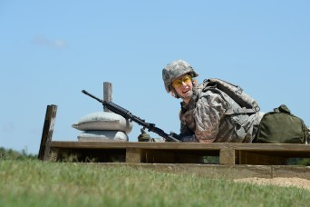 Sgt. Marina DeVol competes in the 2015 U.S. Army Intelligence and Security Command NCO of the Year Competition.