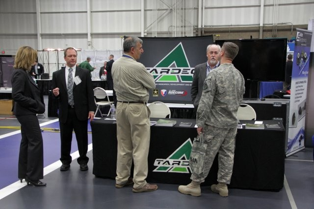 TARDEC engineers engaged representatives from industry, academia and other government agencies during the 2015 MDEX in Macomb County, Mich.