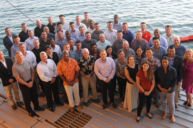 Thirty-four proven and selected mid-grade leaders from across the U.S. Pacific Command AOR gather for the 8th Theater Sustainment Command-hosted Young Alaka'i leader development program, Jan. 10-16, 2016.