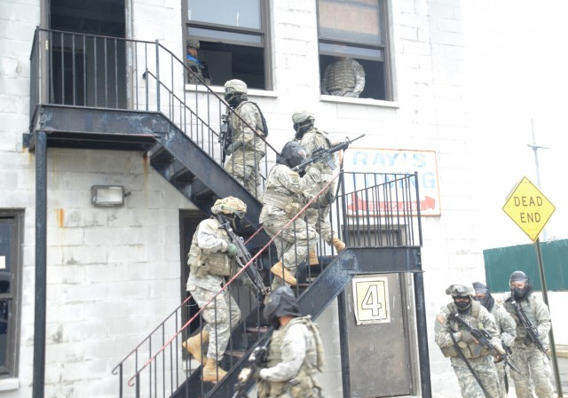 New York National Guard Soldiers develop urban combat skills at police training site