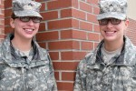 Pvts. Alyxandra and Brandy Erdmann, Company C, 795th Military Police Battalion.