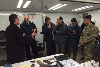 CoESPU director visits USARAF mobile forensic labs