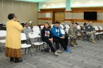 Soldiers from 210th Field Artillery Brigade, 2nd Infantry Division/ ROK - U.S. Combined Division take part in Applied Suicide Intervention Skills Training at the Community Activity Center, Camp Casey, South Korea, Jan. 20. Soldiers listen to the course introduction brief from the program manager.
