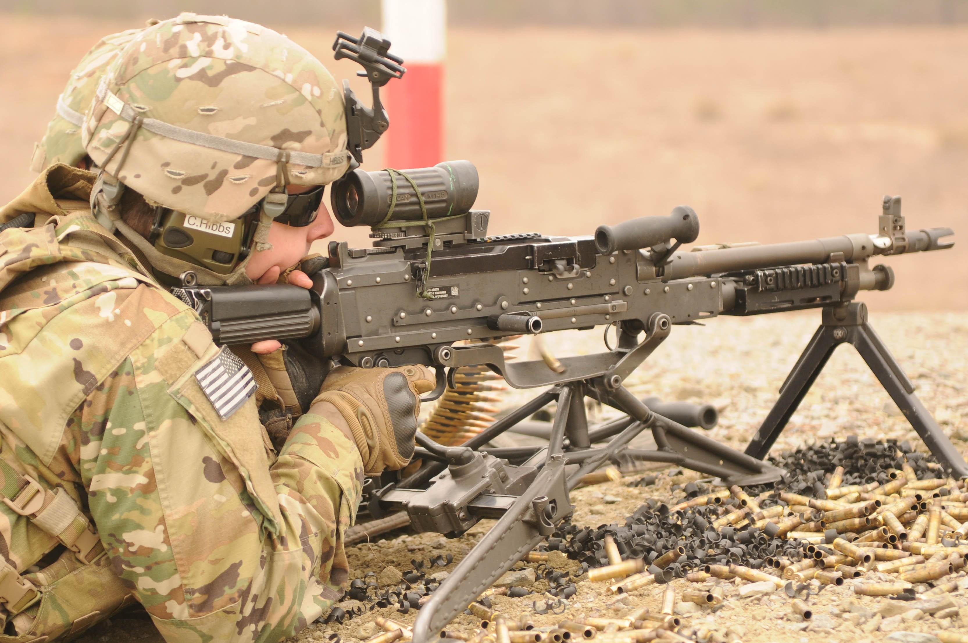 M240l Machine Gun White Falcons Host Mac...