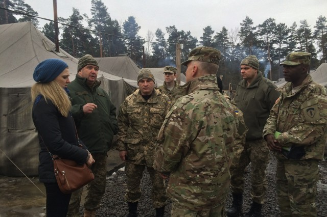 U.S. Army Europe inspector general staff met with their Ukrainian counterparts during a site visit to asses Joint Multinational Training Group -- Ukraine support facilities, Jan. 27-29.