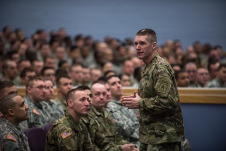 Dailey reiterates importance of readiness, image during Fort Drum visit
