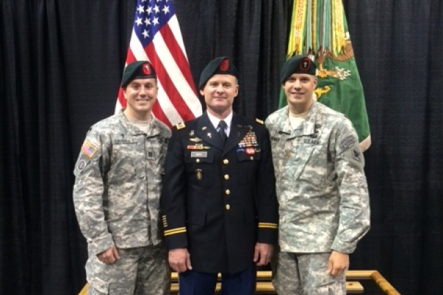 Three Chaplains who completed the U.S. Army Special Forces Assessment and Selection program, as well as the Special Forces Qualification Course. (From left to right: Chaplains Tim Crawley, Mike Smith, and Peter Hofman)