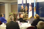 Navy Capt. Stanley W. Fornea, senior chaplain, U.S. Navy Chaplain Corps, White House Military Office, provides remarks during the Fort Lesley J. McNair National Prayer Luncheon at the National Defense University, D.C., Feb. 4, 2016.