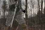 Soldiers conduct biathlon exercise during mountain skills training