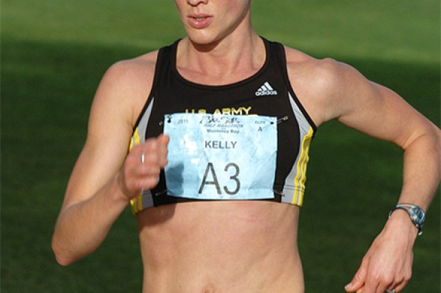 Capt. Kelly Calway, a Department of Physical Education instructor at The United States Military Academy at West Point, will race in the Olympic Marathon Trials in Los Angeles on Feb 13 (U.S. Army photo by Michelle Eberhart, USMA West Point, Public Affairs/released.)