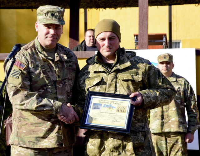 Ukrainian soldiers complete first rotation of Fearless Guardian II