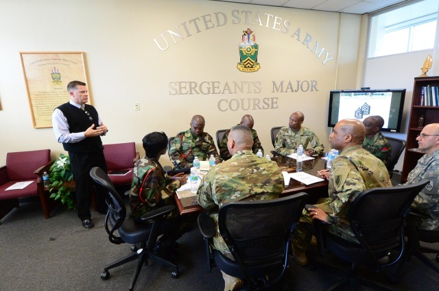 Sergeants Major Course shares knowlege with Malawi Armed Forces College