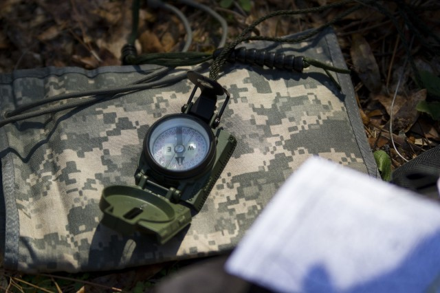 U.S. Army Soldiers representing 32 states compete in this year's 200th Military Police Command Best Warrior Competition held at Camp Blanding, Fla., Feb. 8-11. The competitors participated in a land navigation course, Feb. 9. The winning noncommissioned officer and junior enlisted Soldiers will move on to the U.S. Army Reserve Command competition in May. (U.S. Army Photo by Sgt. Audrey Ann Hayes)