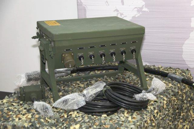 The Army's principal power distribution system, the power distribution illumination system electrical, is a rugged version of a home circuit breaker panel. It safely distributes power and is easy to connect and disconnect.