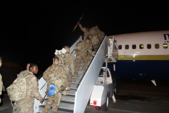 3-15 Infantry Soldiers depart to Africa