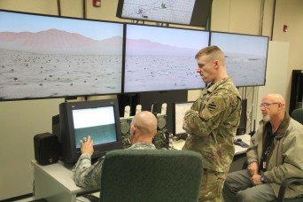 Cavalry scouts mounted up and took training to a new level. Instead of putting their boots on ground, they put them in a virtual simulator.