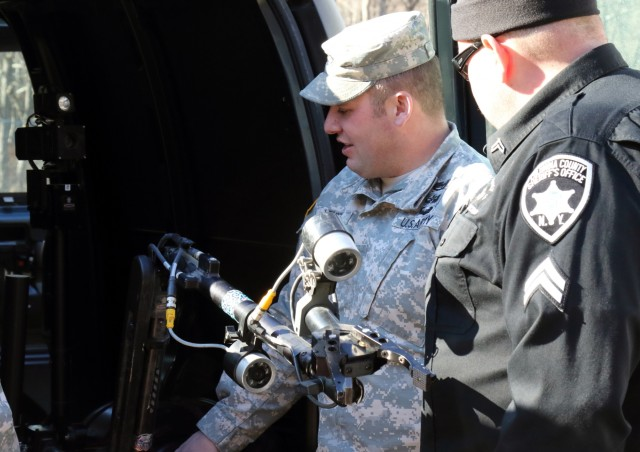 New York Army National Guard's 1108th Explosive Ordnance Disposal Company conducts joint training operations with the Columbia-Green County Shared Services Response Team