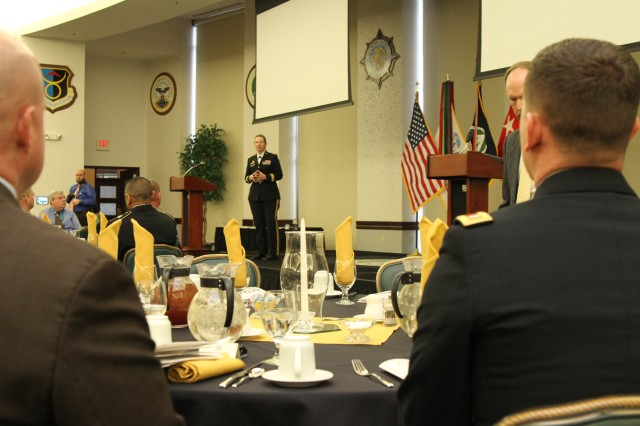 Maj. Gen. Susan Davidson thanks SDDC Soldiers and Civilians for their work