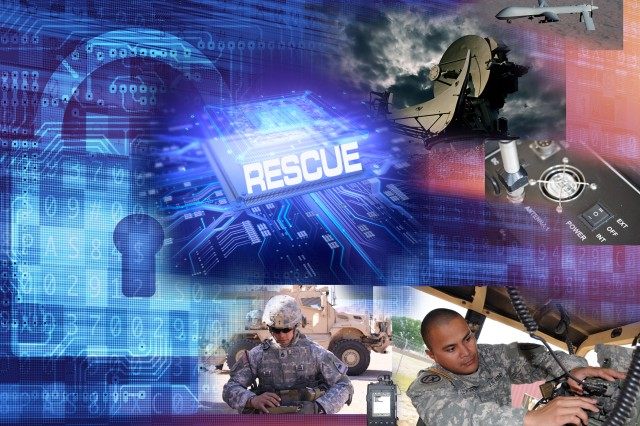 CERDEC is developing the REprogrammable Single Chip Universal Encryptor, or RESCUE, which will be a common chip that will provide cryptographic services to a wide variety of communications devices such as radios, satellites and computers as well as unmanned air and ground systems that use or transmit encrypted information. (U.S. Army CERDEC graphic)