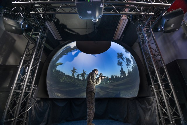 Natick's new virtual reality dome will enable researchers to assess the impact of the environment on Soldier cognition, including decision-making, spatial memory or wayfinding. Researchers will also be able to assess the impact of new equipment on cognitive abilities.